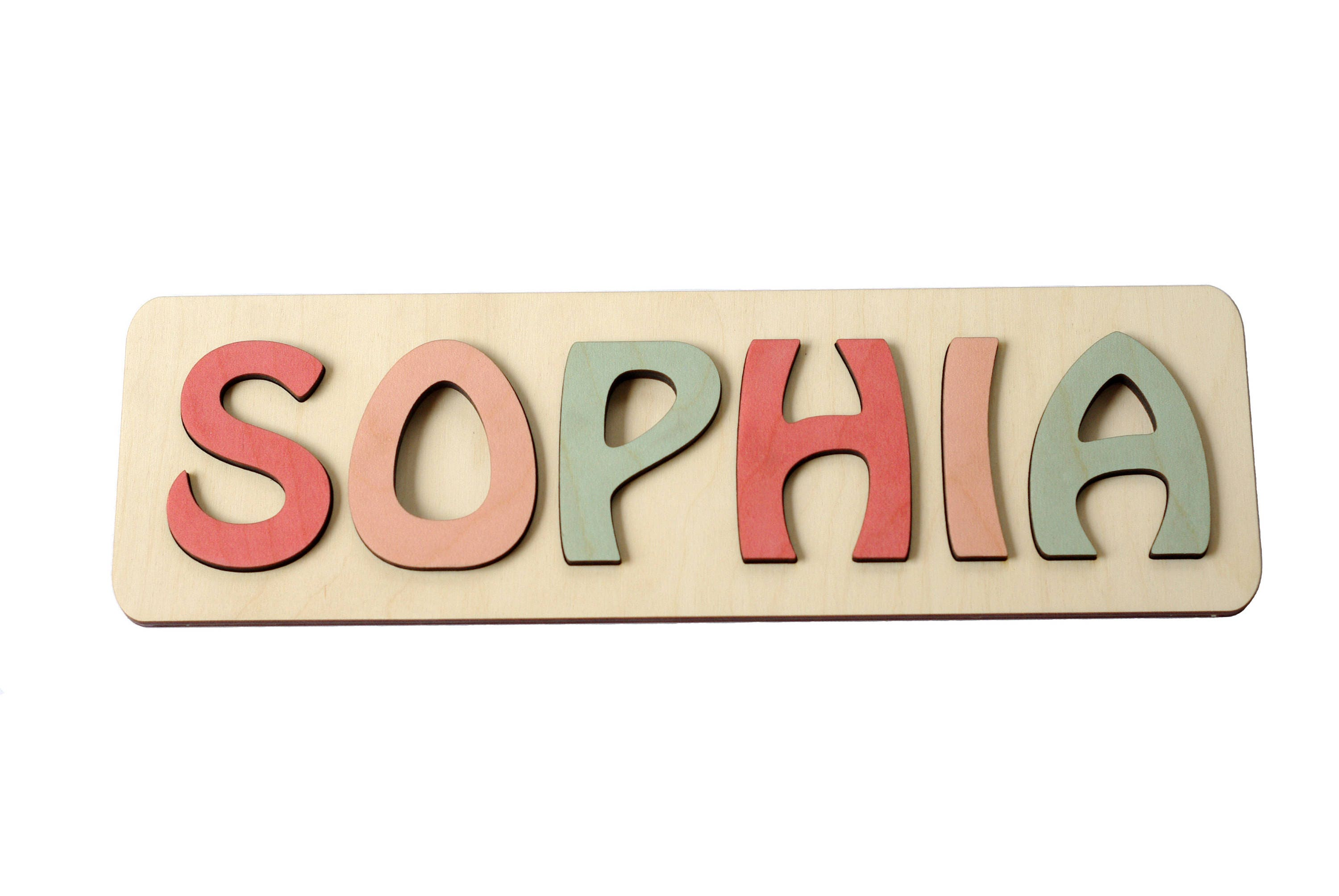 For kids and babies etsy personalized name puzzle name personaziled toy personalized baby name wooden custom name negle Images