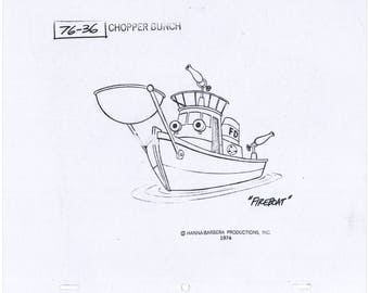 Wheelie and the Chopper Bunch model cel 1974 Hanna-Barbera Iwao Takamoto 2*