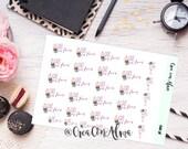 Pegatinas decorativas para agenda, diario/scrapbooking. Planner stickers. Midori, traveler's notebook, happy planner, filofax, Erin Condren