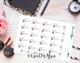 Decorative for agenda, journal/scrapbooking stickers. Planner stickers. Midori, traveler's notebook, planner, filofax, Erin Condren