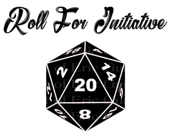 D20 Roleplay Game Roll Initiative Dice Birthday - Edible Cake and Cupcake Topper For Birthday's and Parties! - D22913
