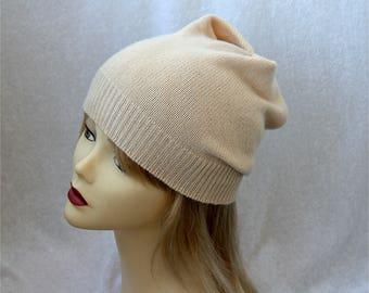 Pure cashmere hat
