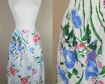 1980s XL vintage floral skirt extra large