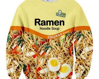 Chicken Ramen Noodle Crewneck Sweater