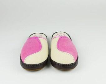 Women size 7.5 Pink/Cream