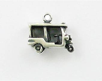 Sterling Silver Tuk Tuk Taxi Charm