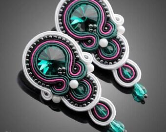 Soutache earrings Chloe No. 03