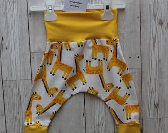 Peedie Boo Organic Cotton Harem Style trousers...Giraffes