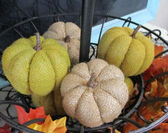 Pumpkin Burlap Pumpkins Fabric Pumpkin Indoor Pumpkins Fall Decoration Thanksgiving Table Centerpiece Fall Pumpkin Wreath Making Supply