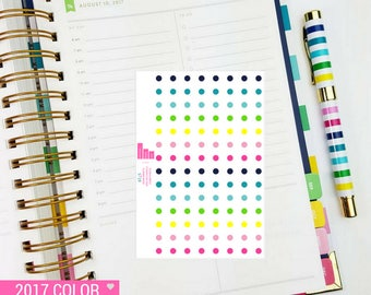 Color Coding Dots Sticker Sheet