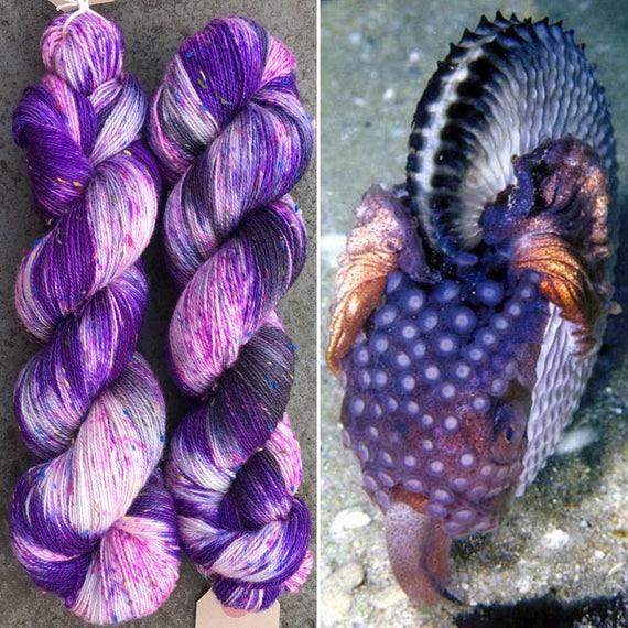Argonaut Donegal Sock, cephalopod inspired merino yarn