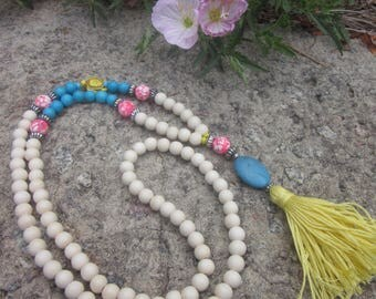 Long beaded tassel necklaces boho jewelry turtle mala bohemian tassels colorful bohemian necklace long beaded tassel necklace