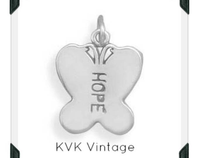 HOPE Butterfly Charm Necklace