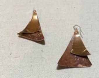 Sailing - Copper Earrings by Leilehua Yuen