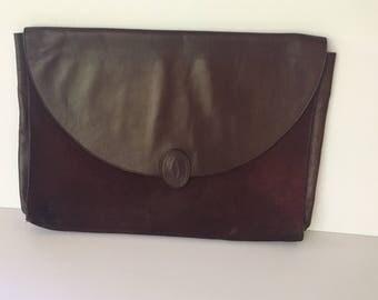 Vintage Must de Cartier Leather 1980's Clutch