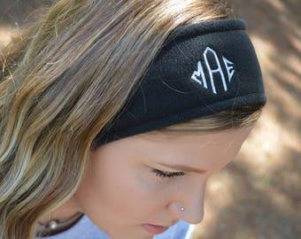 Monogram Fleece Ear Warmers/Monogram Fleece Head Band