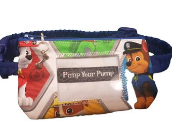 Insulin Pump Pouch Chase with vinyl screen and matching zip charm