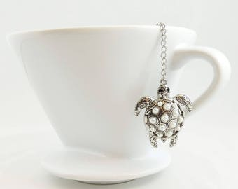 Turtle Loose Tea Infuser Tea Strainer Mesh Loose Leaf Tea