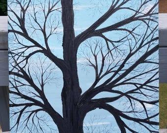 evening winter tree
