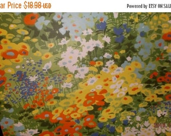 ON SALE Vintage Monet' style Wallpaper Giverney garden Hand screened color By the Yard~NOS