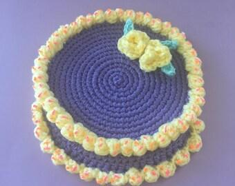 3D Cake Appliqué and Coaster