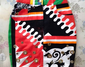 Vintage MOSCHINO studded skirt that's 90 years