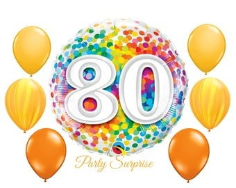 80th Birthday Balloons, 80 Balloons, 80 Birthday Party, 80 Years, Man 80 years old balloons, Woman 80 years old balloons
