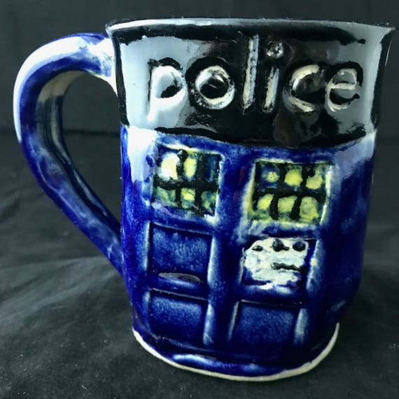 Tardis inspired coffee mug