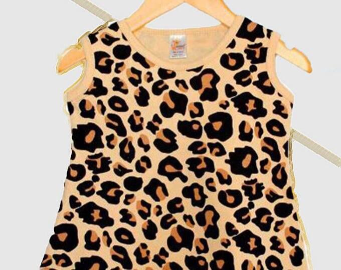 Choose Safari Leopard Print or Sweet Lilac Sleeveless Dress