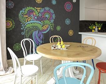Wand schablone gro er baum schablone freie v gel schablone - Schablone wandmalerei ...