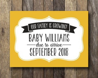 Baby Makes Three - Printable Pregnancy Announcement - Pregnancy Reveal Sign - And Baby Makes Three - Printable Pregnancy Announcement Card