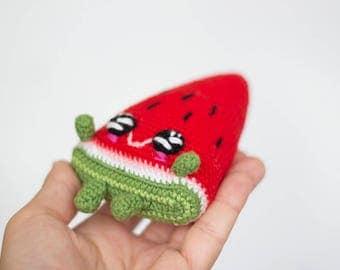 Red Crochet Watermelon  Baby toy, Amigirumi Play Food, Slice Play Food, Plush  watermelon, Watermelon Wedge , Baby shower gift