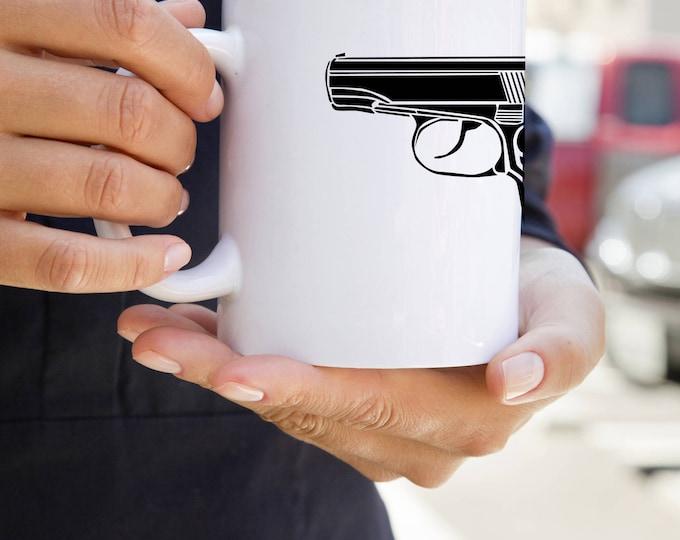 KillerBeeMoto:  U.S. Made Vintage Soviet Russian Makarov Pistol Coffee Mug