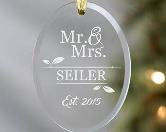 Personalized Couples Ornament, Couples Christmas Tree Ornament