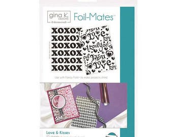 Therm O Web - Foil-Mates - 5.5 x 8.5 - Background - Love and Kisses