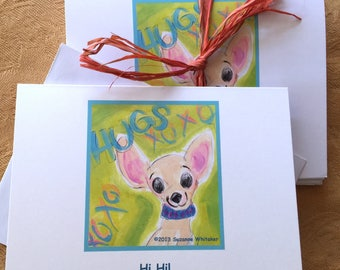 Doggie Notecards - Chihuahua and Fluffy Dog