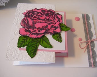 Love You Card-Pink Rose