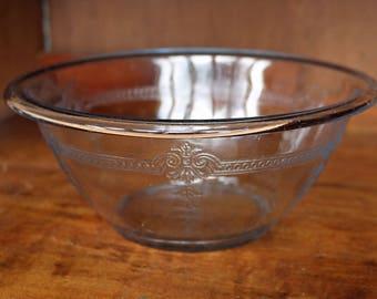 "Fire King Philbe Sapphire Blue Utility Bowl ~~ 8-3/8"" ~~ 1-1/2 quart ~~ 1940s-50s ~~ Azurite ~~ Bakeware ~~ Anchor Hocking"