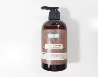 Cedar & Leather Organic Body Lotion - Organic Jojoba Oil, Shea Butter and Coconut Milk Lotion - Body Lotion for Men - 9.3 oz