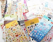 40 Pcs BIG SALE cute animal memo stickers pens stationery stamp Korea