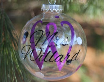Personalized Clear Ornaments