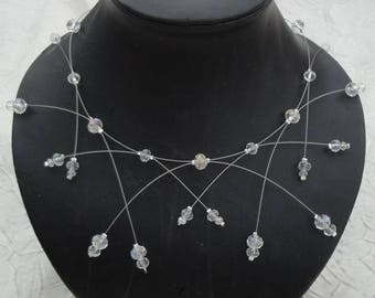 Set of jewelry for bridal dress wedding evening bridal Czech Crystal beads necklace + bracelet + earrings