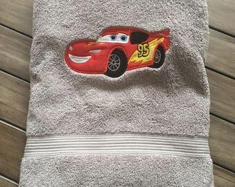 Personalized Lightening McQueen Bath / Pool Towel