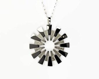 Sun Pendant, Shining Sun Necklace, exploding star necklace, fireworks jewelry, Unique necklace, Unusual Pendant, Little Black Dress necklace
