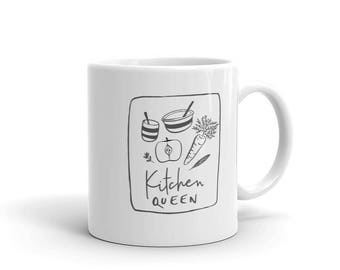 Kitchen Queen Mug - Gift for Mom, Gift for Chef, Foodie Mug