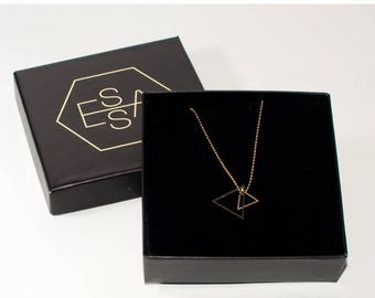 35% Discount Triangle necklace   Gold plated & Silver plated