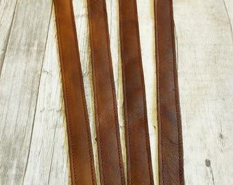 Bag Straps, Pair Leather straps, Leather handles, Craft supplies, Brown, Leather strap, Leather Purse Strap, Replacement Shoulder Strap