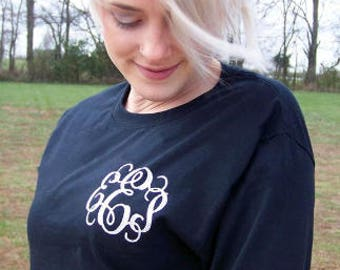 Long Sleeve Monogrammed T-Shirt - chest & arm