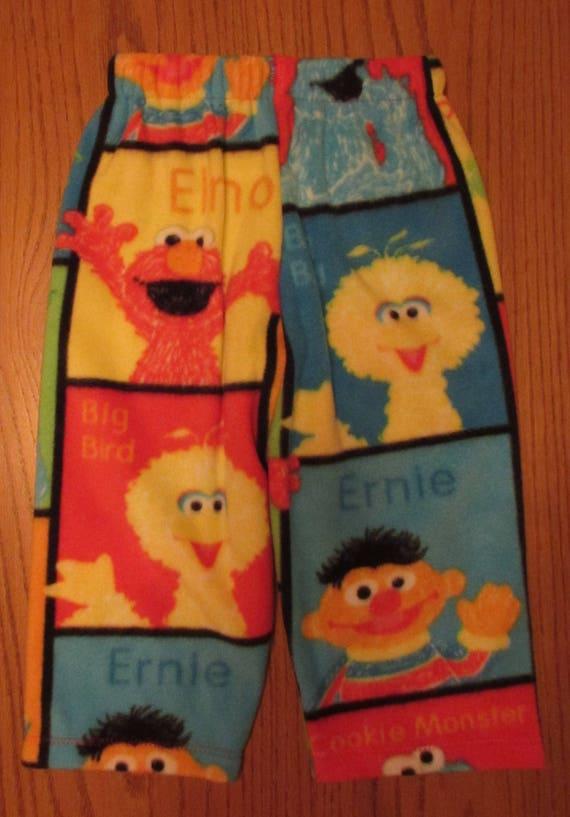 Sesame street pajamas,Sesame Street fleece pajama bottoms,toddler pajamas,Sesame Street, Sesame Street clothes,Elmo pajamas,Big Bird pajamas