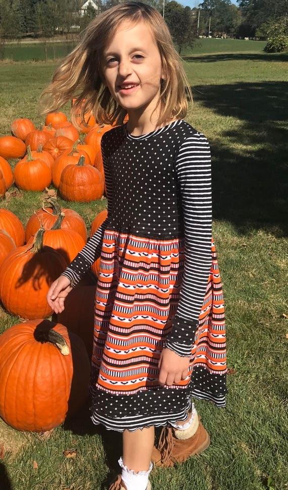 Halloween dress,girls Halloween dress,8 prints,girls fall dress,girls knit dress,girls Halloween knit dress,girls ghost dress,witch dress